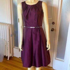Plum Sleeveless occasion dress